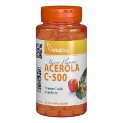 Vitamina C 500 mg cu acerola (40 comprimate), Vitaking