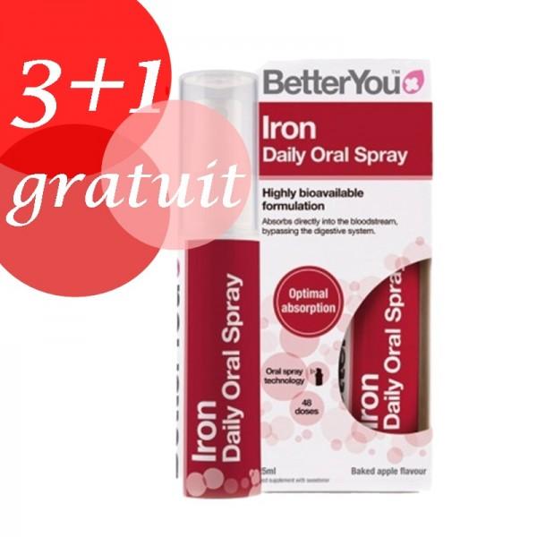 Promo 3+1 Gratuit Iron Oral Spray (25ml), BetterYou