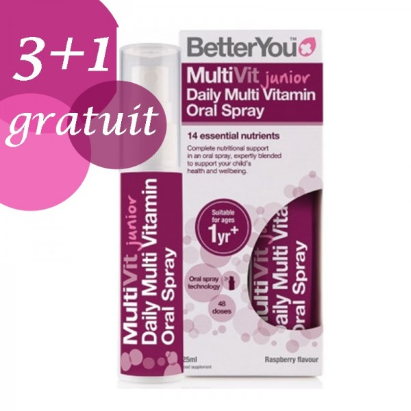 Promo 3+1 Gratuit Multivit Junior Oral Spray (25ml), BetterYou